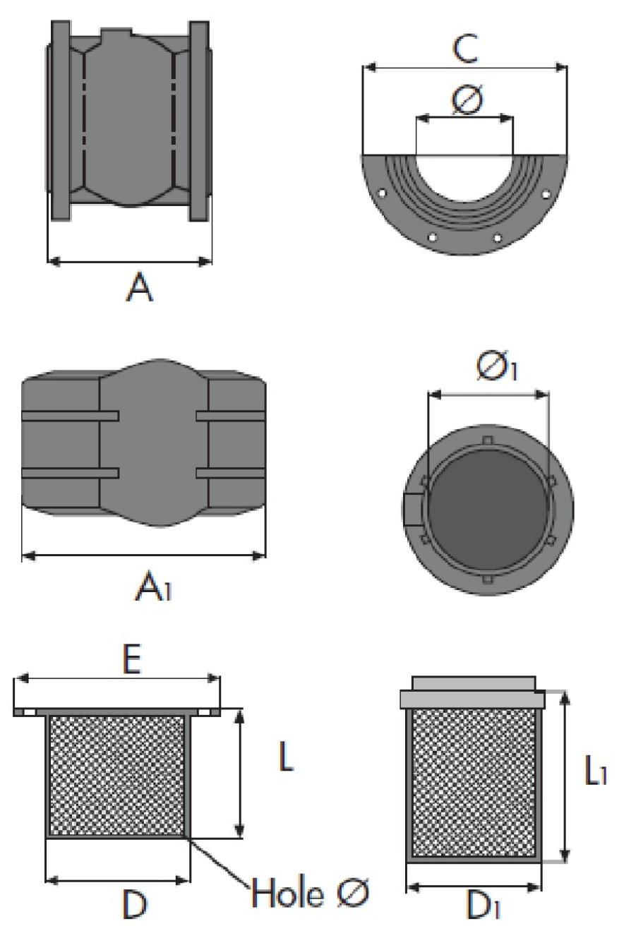 Чертеж для Обратный клапан фланцевый Zetkama 402 (прямой)
