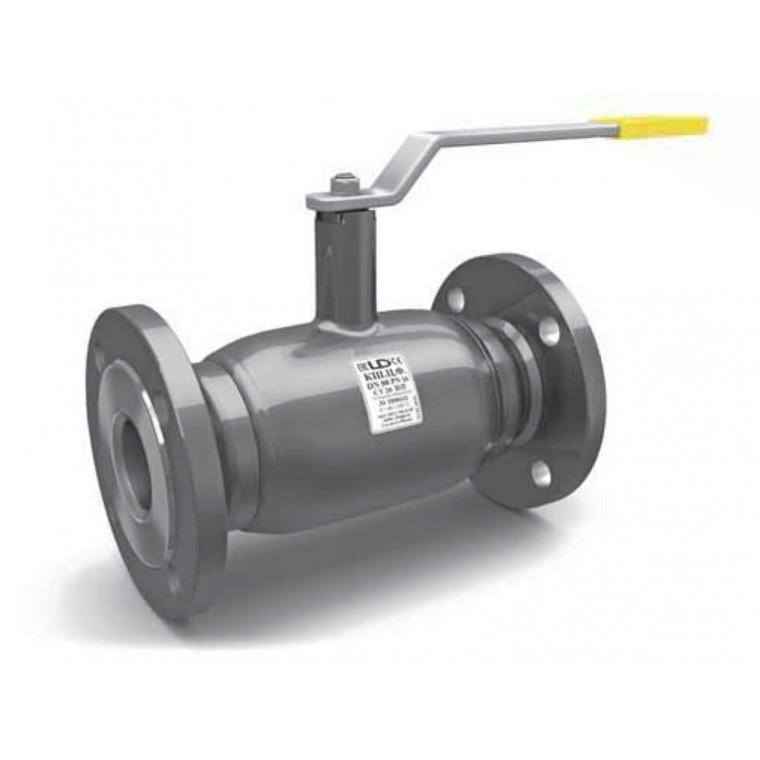 Кран шаровой LD фланцевый стальной полнопроходной DN25