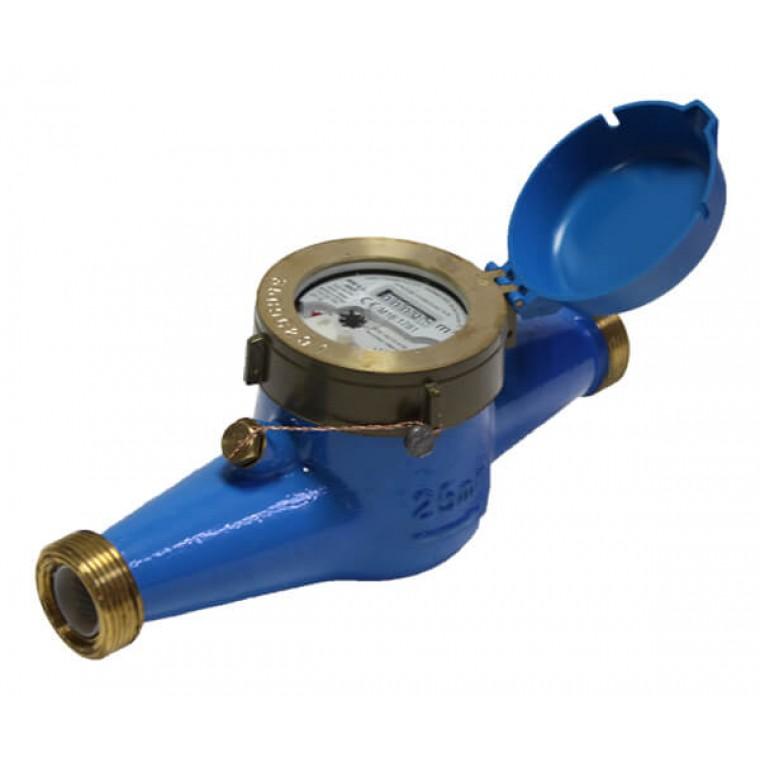 Домовой счетчик для холодной воды (многоструйный мокроход) Powogaz WM-6,3 DN25