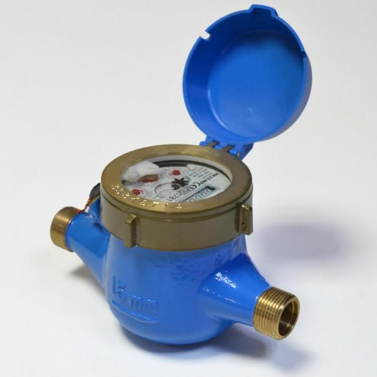 Домовой счетчик для холодной воды (многоструйный мокроход) Powogaz WM-2,5 DN15