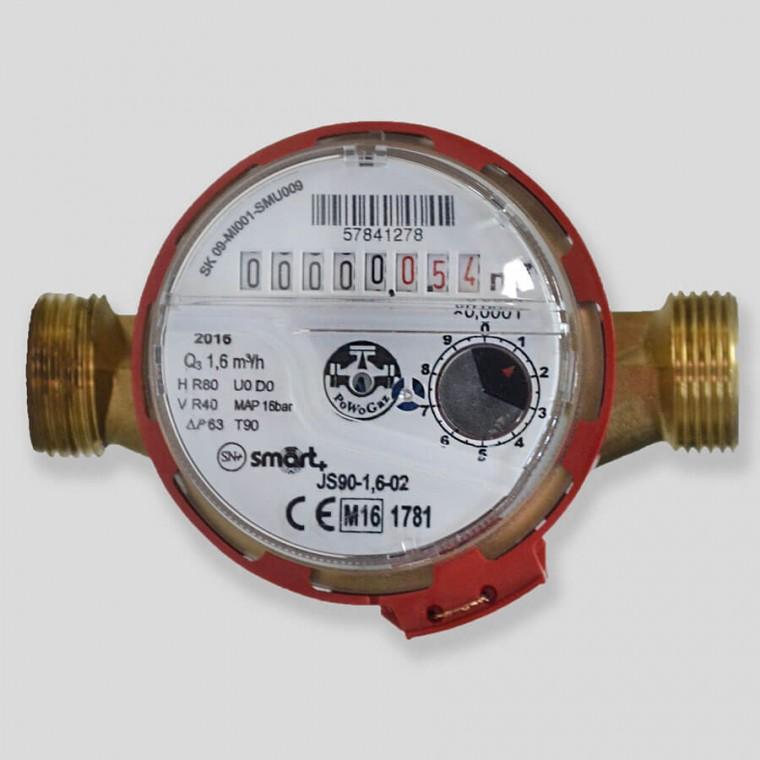 Квартирный счетчик для горячей воды Powogaz JS90-1,6 SMART+ DN15