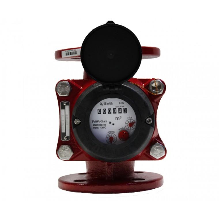 Промышленный турбинный счетчик для горячей воды Powogaz MWN 130-40 Q3=25 м3/ч