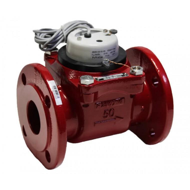 Промышленный турбинный счетчик для горячей воды Powogaz MWN 130-50-NK Q3=25 м3/ч