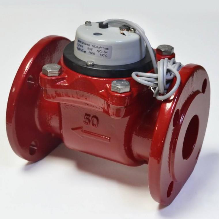 Промышленный турбинный счетчик для горячей воды Powogaz MWN 130-100-NK Q3=100 м3/ч