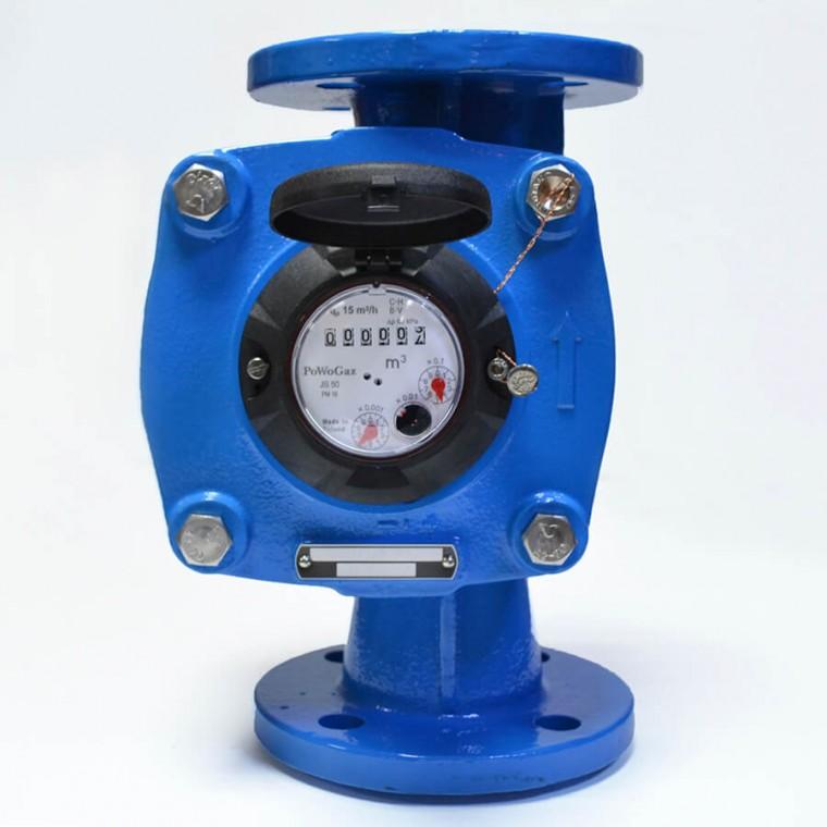 Промышленный крыльчатый счетчик класса C для холодной воды Powogaz IMPERO JS-50 Q3=25 м3/ч