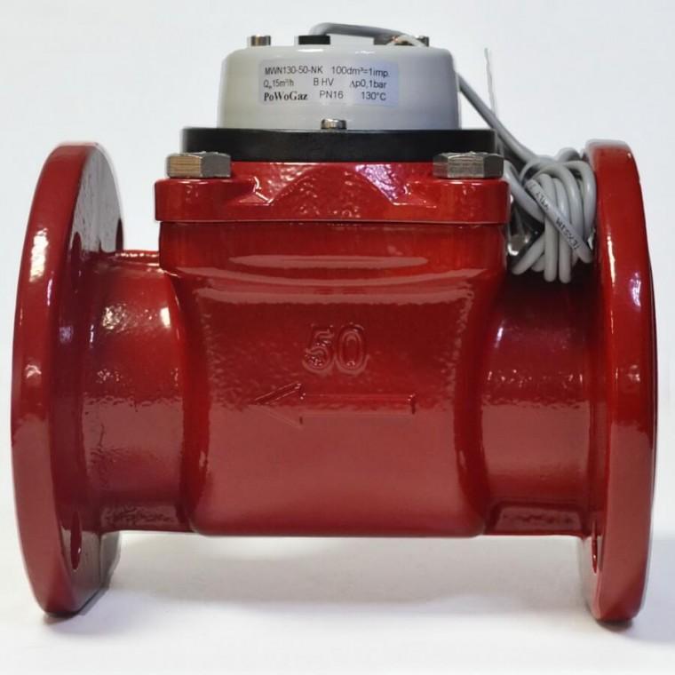 Промышленный турбинный счетчик для горячей воды Powogaz MWN 130-65-NK Q3=40 м3/ч