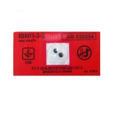 """Индикатор магнитного поля ИВМП 3-2 типа """"ИН-АТ"""" на красной пломбировочной пленке."""