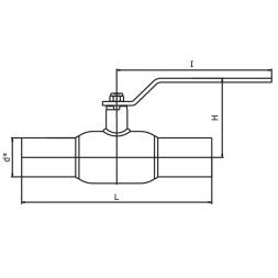 Кран шаровый INTERVAL под приварку стандартнопроходной ДУ15