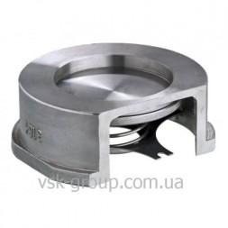 Обратный клапан межфланцевый Zetkama 275 дисковый из нержавеющей стали DN100