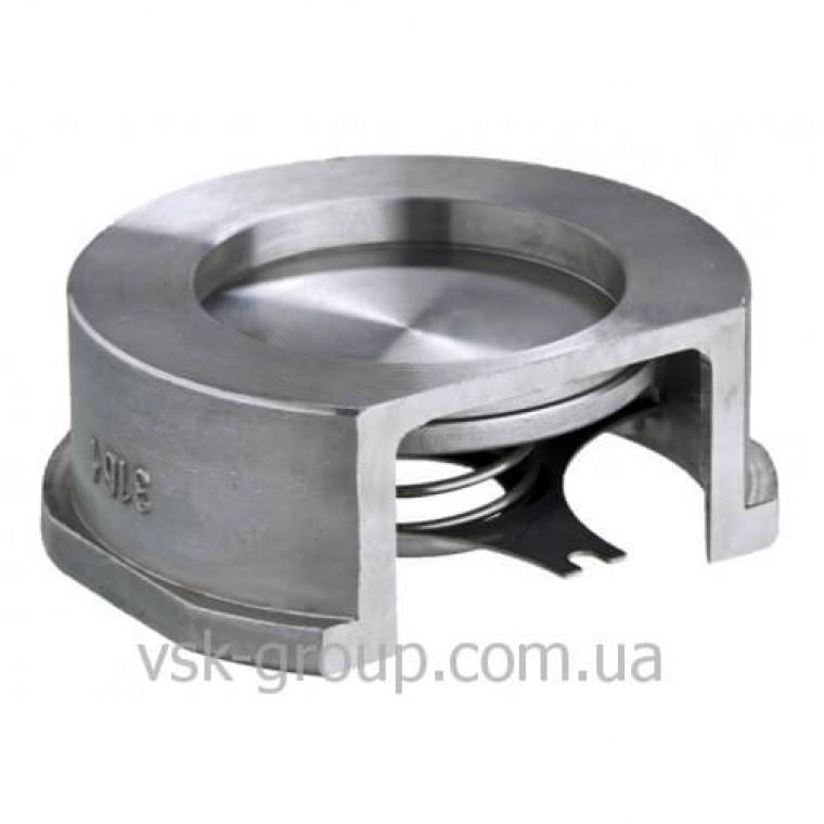Обратный клапан межфланцевый Zetkama 275 дисковый из нержавеющей стали DN150