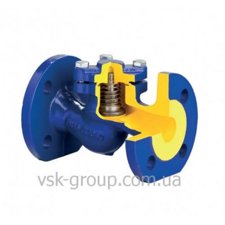 Обратный клапан стальной фланцевый Zetkama арт. 287F (подъемный) DN150