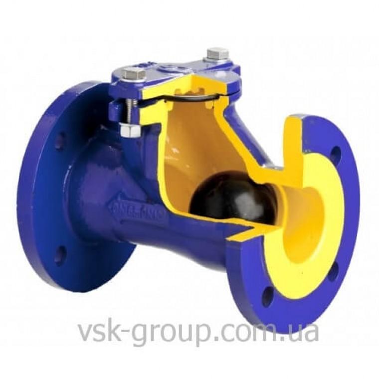 Клапан обратный шаровый чугунный фланцевый Zetkama арт. 400 DN50