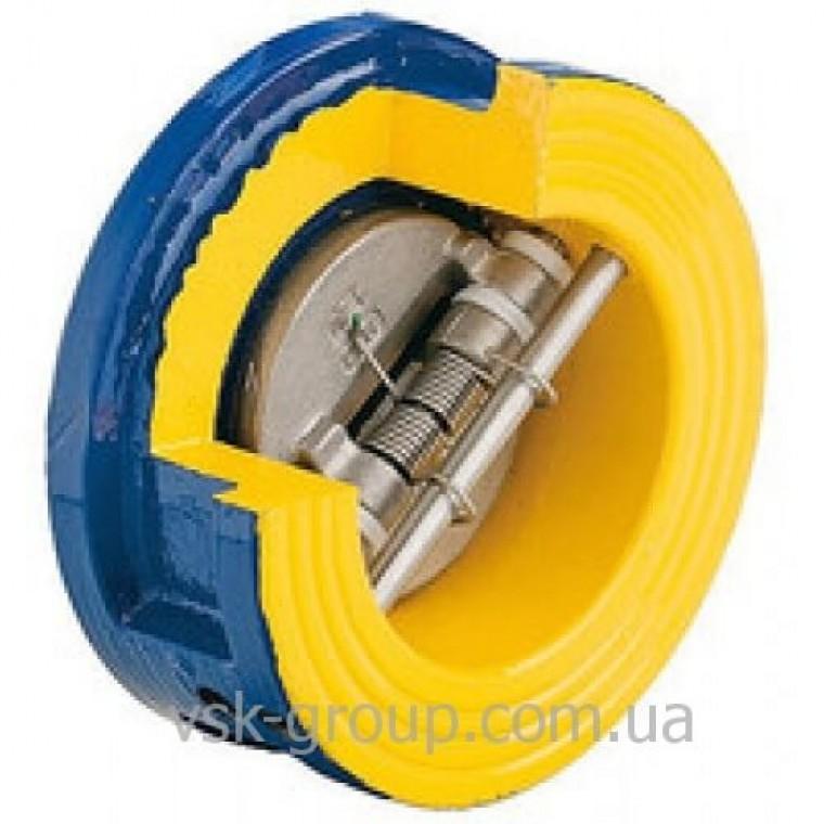 Обратный клапан чугунный межфланцевый Zetkama арт. 407  (подпружиненный) DN50